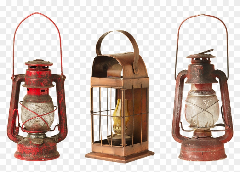Lantern, Lamp, Old, Kerosene Lamps, Lights, Old Things - Old Things Clipart #3213401