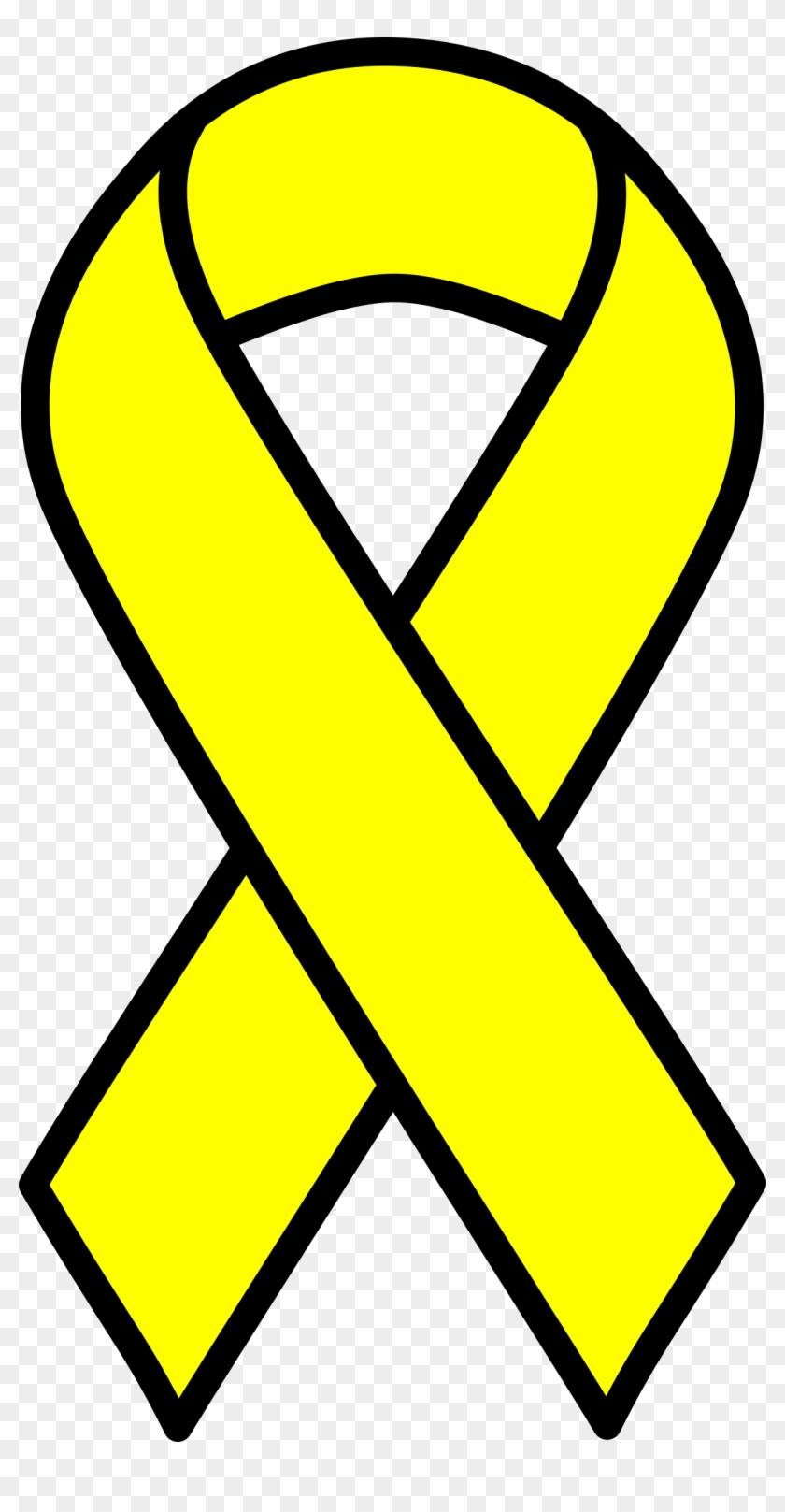 Yellow Cancer Ribbon Outline Breast Cancer Ribbon Clipart