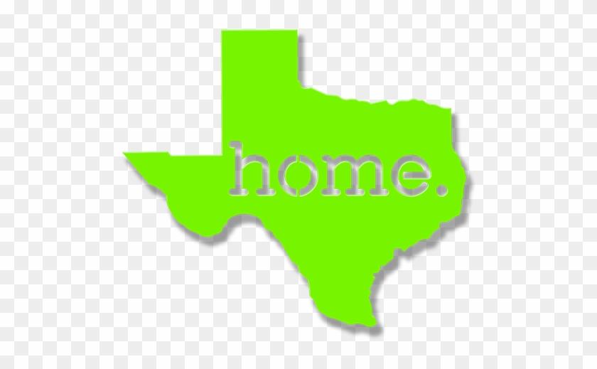 Texas 'home' Outline - Houston On A Texas Map Clipart #3219330
