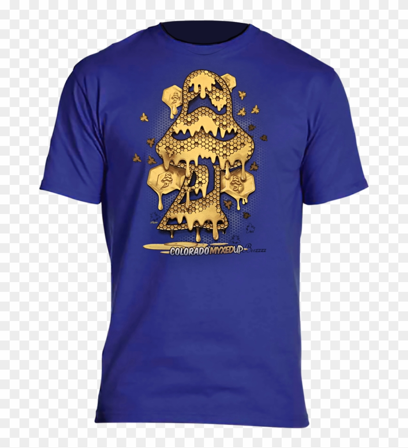 Dab Mushroom Honeycomb Drip Myxed Up T-shirt - Active Shirt Clipart #3240611