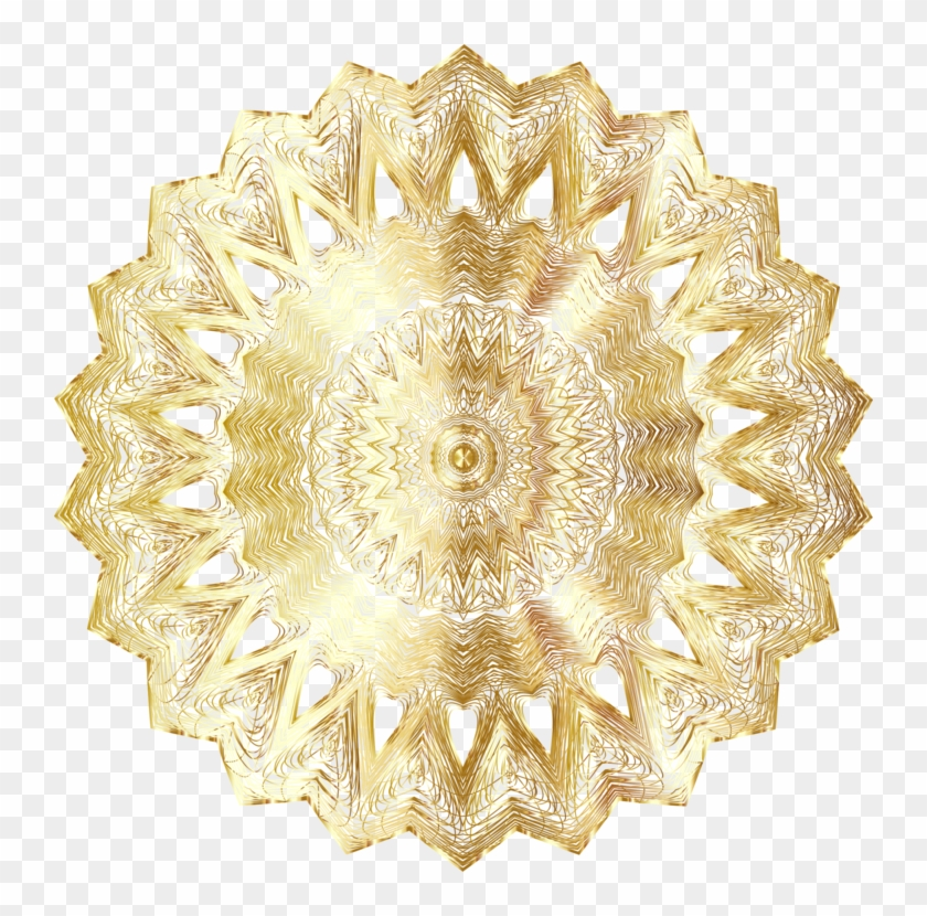 Circle Color Mandala Line Art Golden Sun - Golden Design Background Png Clipart #3241797