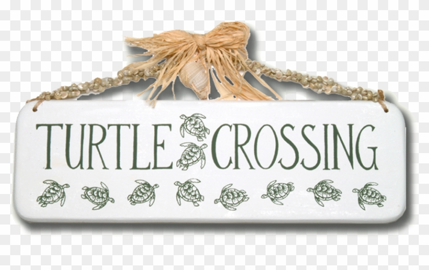 Turtle Crossing Wooden Sign - Octopus Clipart #3242488