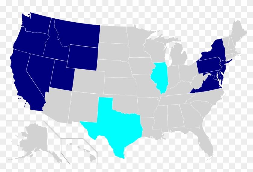 Us Map Places Traveled - Us Senate Map 2019 Clipart