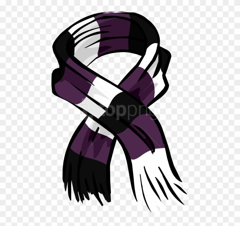 Free Png Download Purple Rugby Scarf Clipart Png Photo - Club Penguin Purple Scarf Transparent Png #3246402