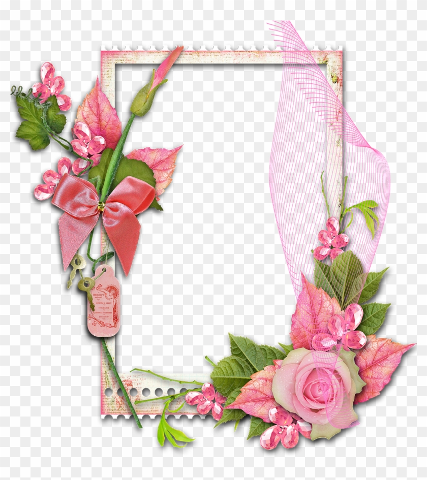 Flower Frame Png, Text Background, Paper Background, - Floral Decorative Borders Clipart #3250784