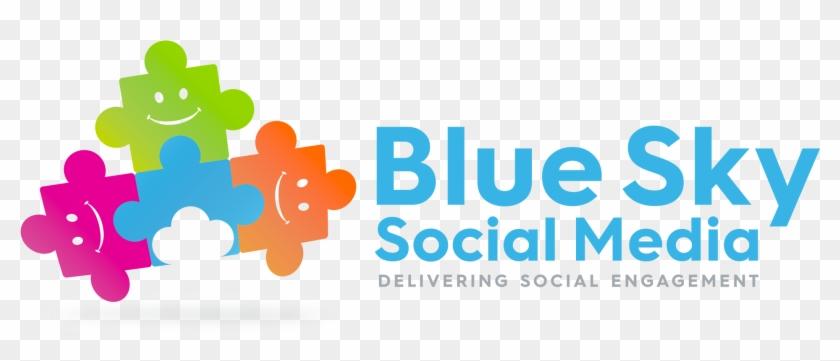 Blue Sky Social Media Logo - Graphic Design Clipart #3258897