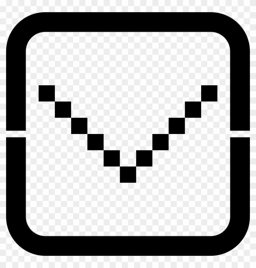Down Arrow Comments - Heart Pixel Art Clipart #3259892
