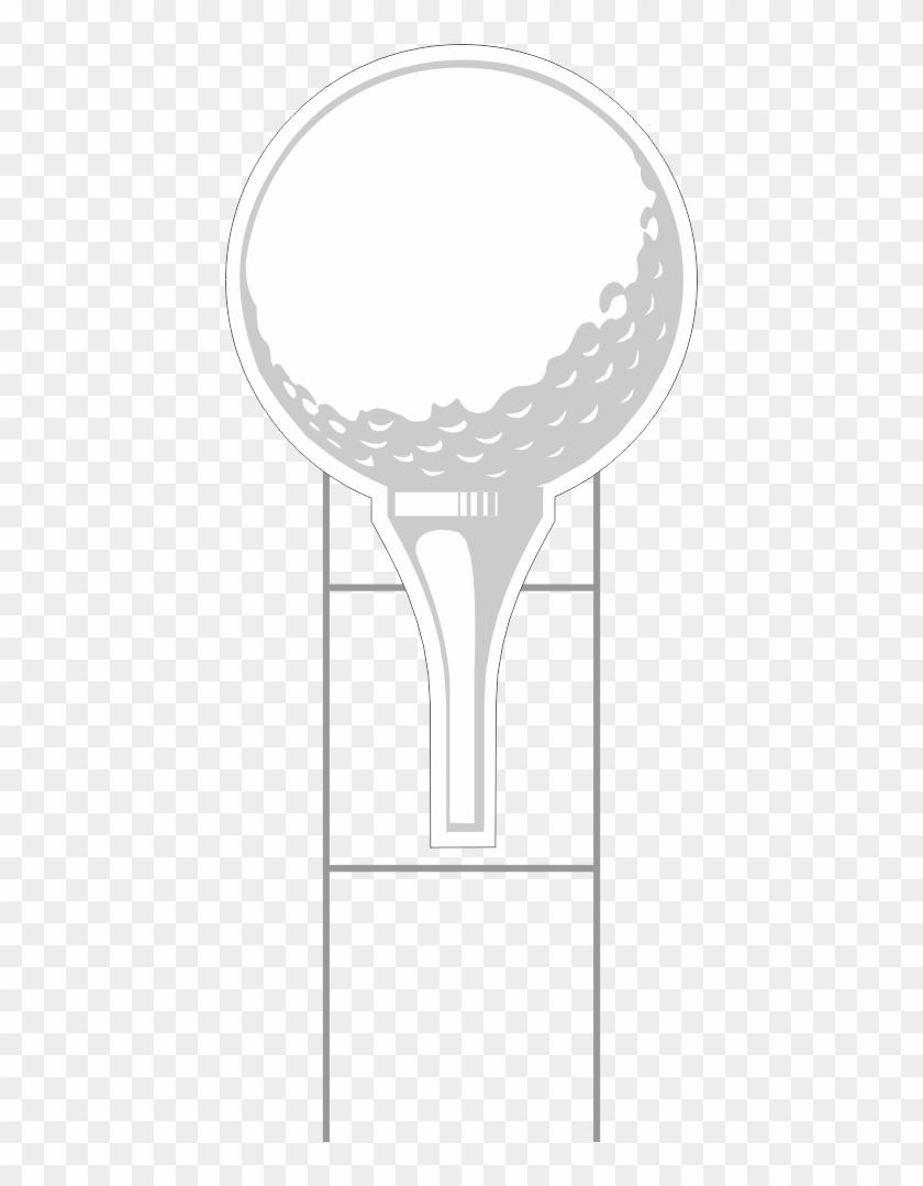 Svg Transparent Download Golf Ball On Tee Clipart - Golf Ball Yard Sign - Png Download #3263702