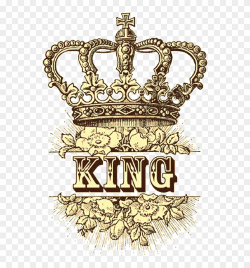 #king #crown #yelliw #paint #drawing - King Crown With Flowers Clipart #3264472