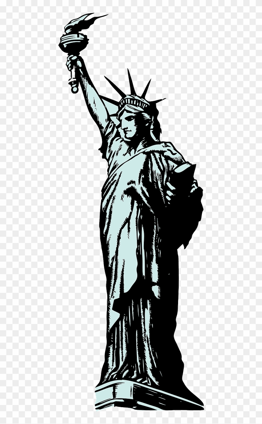 Statue Of Liberty New York Island Png Image - If You Can T Enlist Invest Buy Clipart #3265179