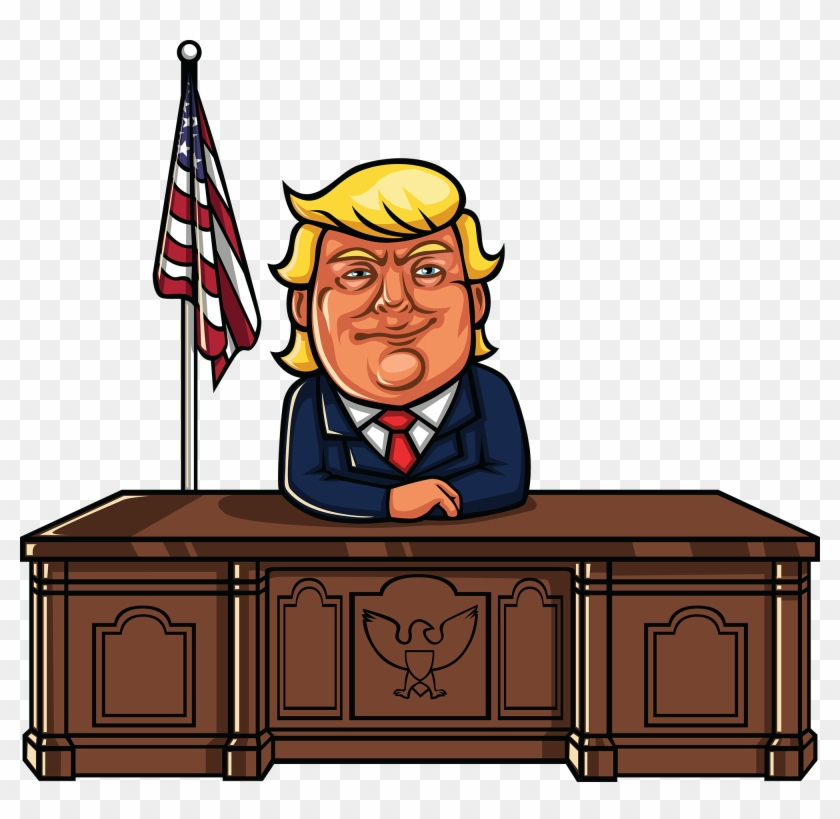 He's Not Focussing On The Policy Under Discussion Folks - Cartoon Donald Trump Sitting Clipart #3270317