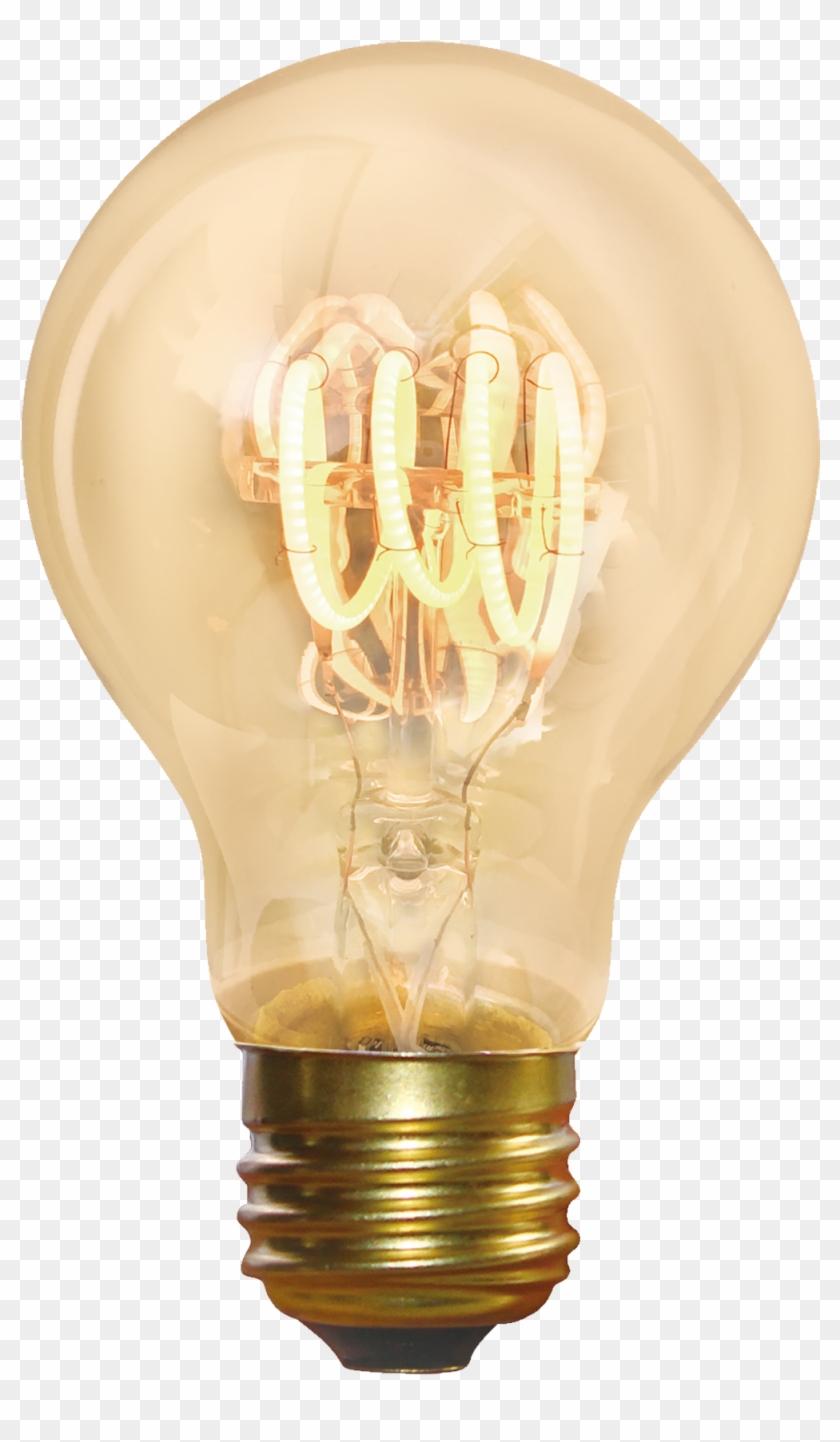 Vintage Light Bulb Png - Incandescent Light Bulb Clipart #3270671