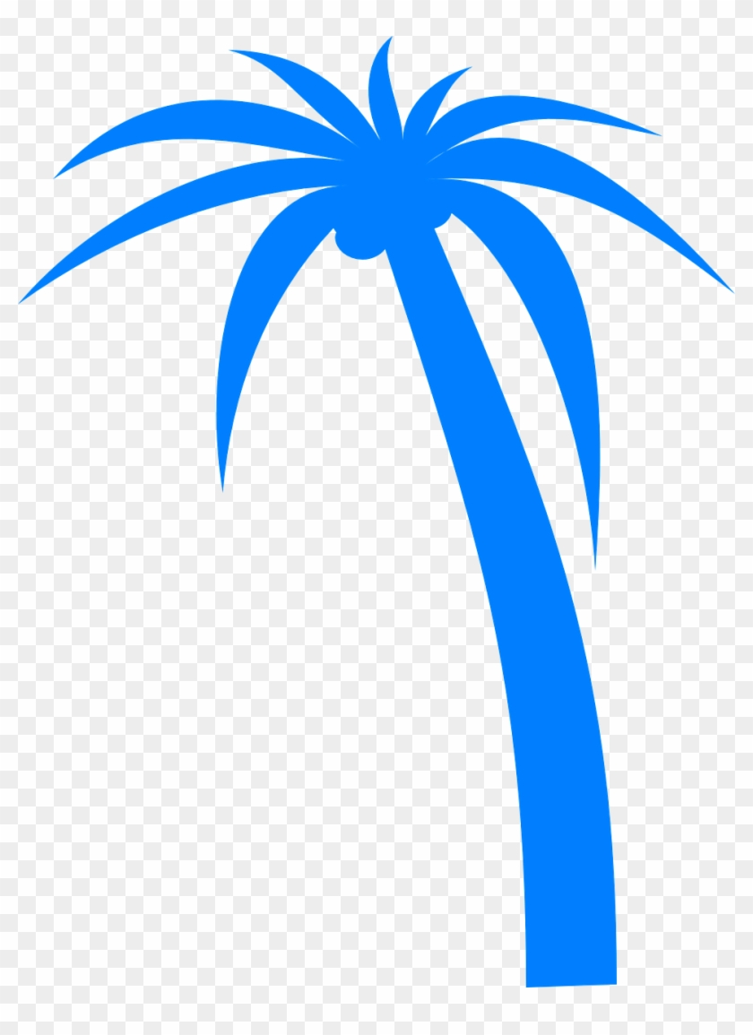 Vacation, Palm Tree Palm Tropical Vacation Blue Palm - Palm Tree Clip Art Vector - Png Download #3272519