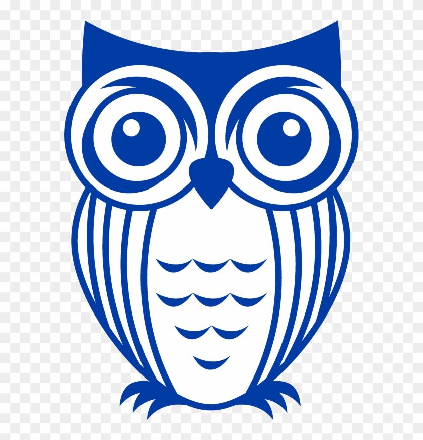 Icon Owl - Blue - Owl Vinyl Decals Clipart #3273721