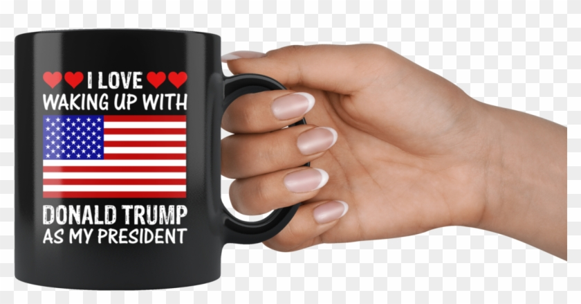 I Love Waking Up With Donald Trump As My President - American Flag, HD Png Download #3273855