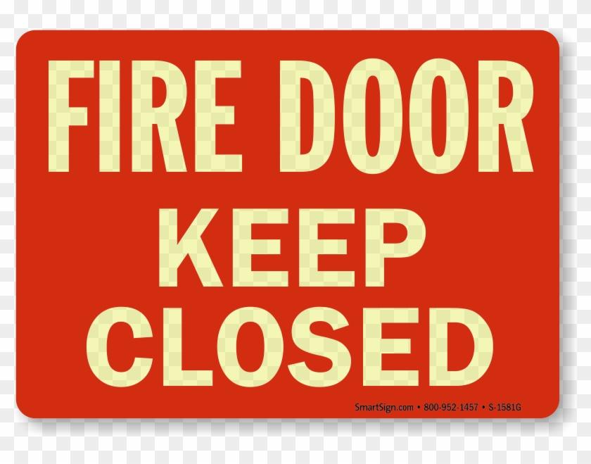Keep Fire Door Shut Signs Clipart #3277775
