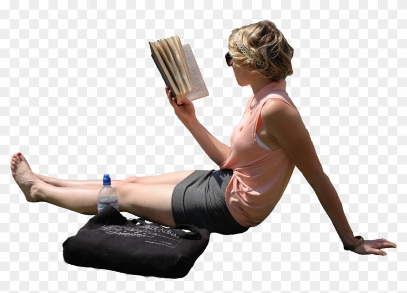 Woman Laying In Sun Reading Book Source People Read Book