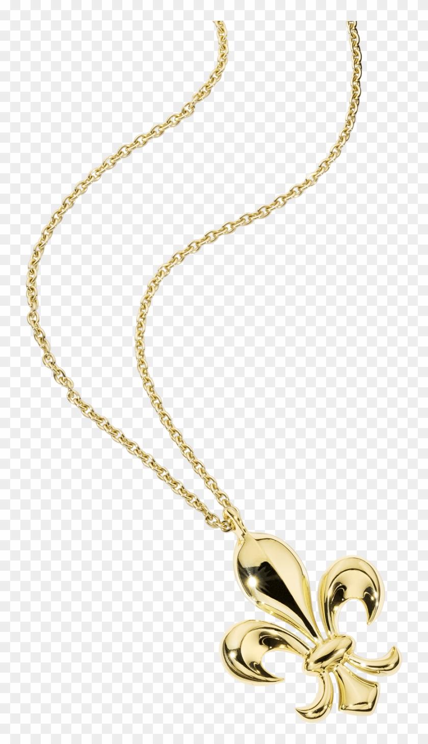 Lys Royal Pendant, Yellow Gold - Chaîne Fleur De Lys Clipart #3285407