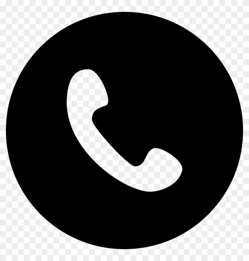 Tel Png - Phone Icon Black Circle Clipart (#3288879) - PikPng (840 x 880 Pixel)