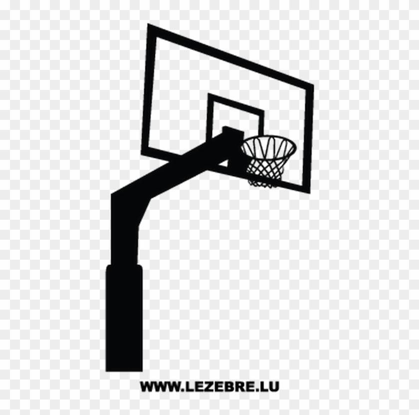Sticker Panier Basket Playing Basketball Design Clipart