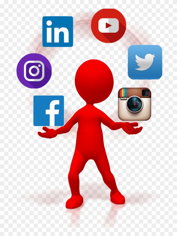 Juggling Multiple Social Media Accounts Clipart , Png - Social Media Icons Circle Transparent #3291267