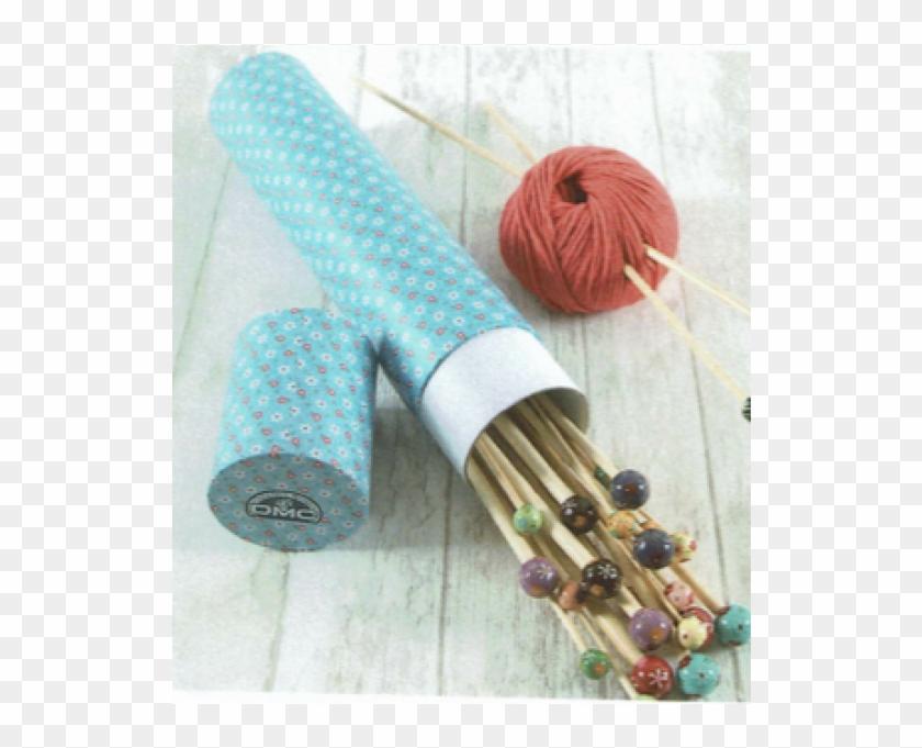 Dmc Flower Storage Tubes For Knitting Needles - Woven Fabric Clipart #3291746