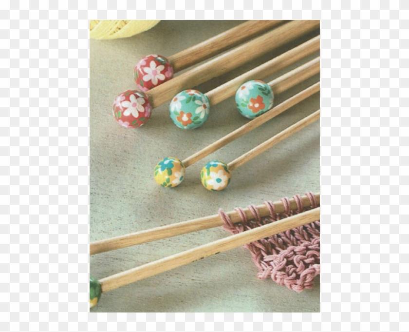 Dmc Flower Bamboo 40cm Knitting Needles - Earrings Clipart #3291829