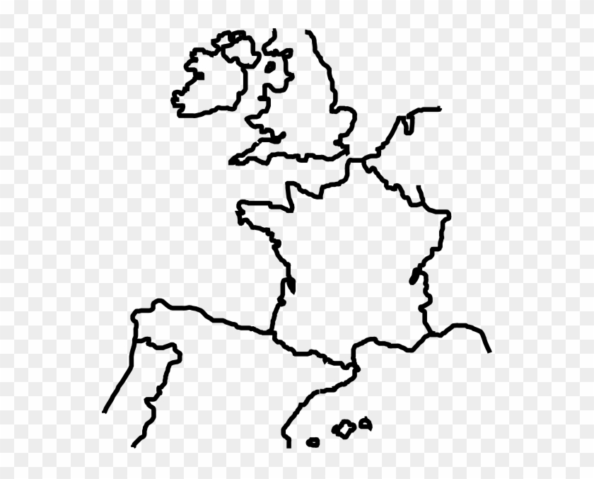 West Europe Outline Map, HD Png Download (#3293543) - PikPng