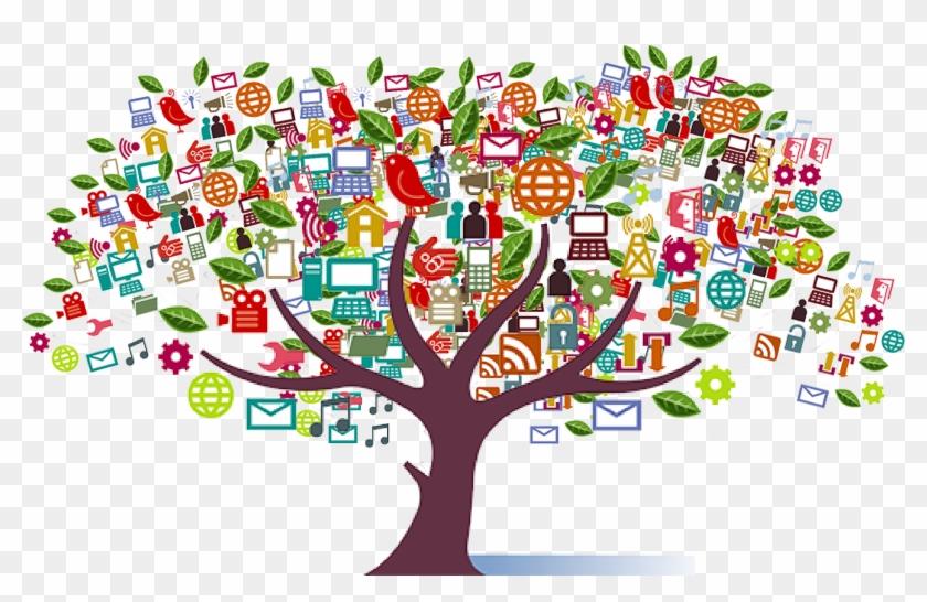 Do I Have Green Fingers Sasha Kinch, Social Media - Social Media Tree Transparent Clipart #3294664