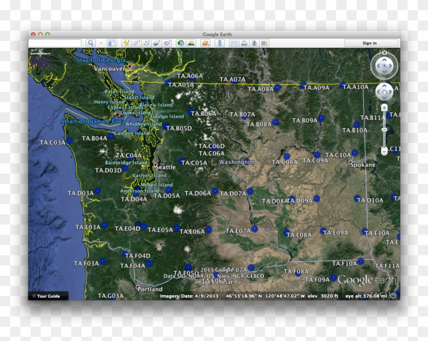 Google Earth Ta - Google Earth Washington State, HD Png ... on google heat map, find address by location on map, googl map, google world map,