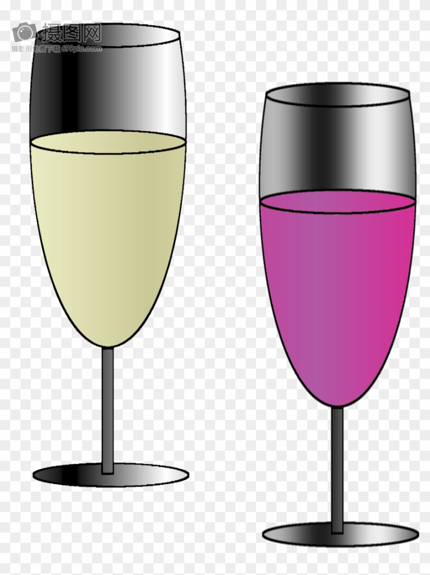 Red And White Wine - Wine Glass Clipart #3297626