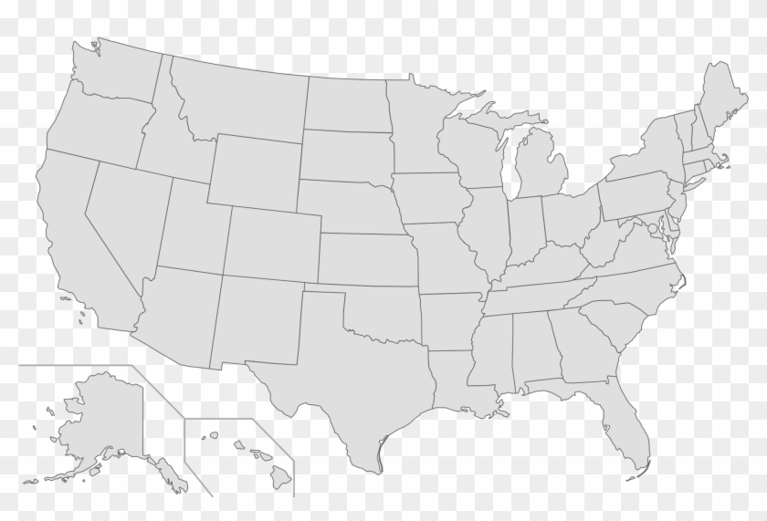 Us Map Clipart Transpatent - United States Transparent Map - Png Download #331000