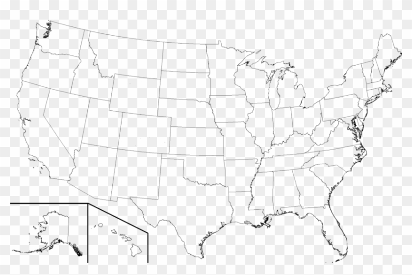 Free Png Download High Resolution Blank United States - High Resolution Map Of United States Names Clipart #331116