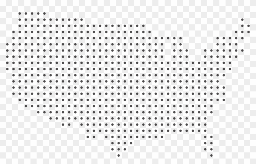 Click On A Size You Want To Download - Dotted Map Of Us Clipart #331376