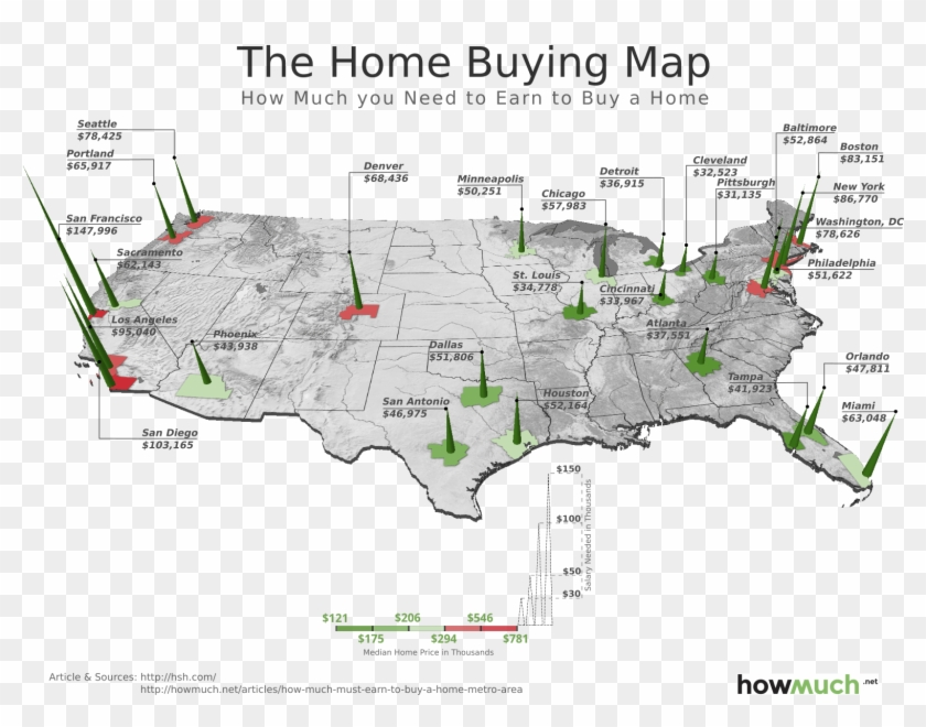 The Home Buying Map Final Image 5a65 - Much You Need To Earn To Buy Clipart #332040