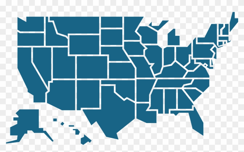 Us Map - Most Popular Social Media By State Clipart #332254