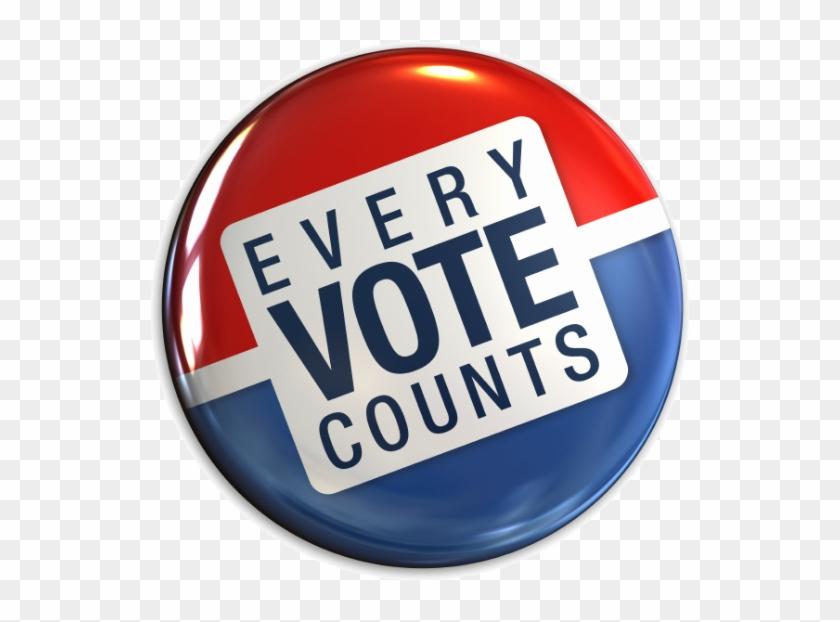574 X 559 6 - Your Vote Counts Button Clipart #334271