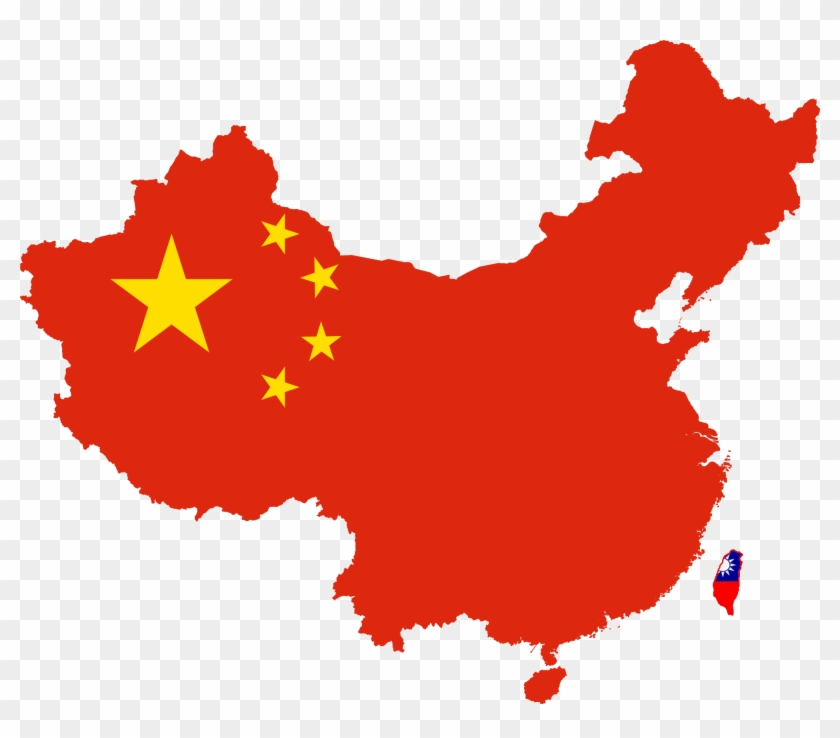 China Flag Map Clipart