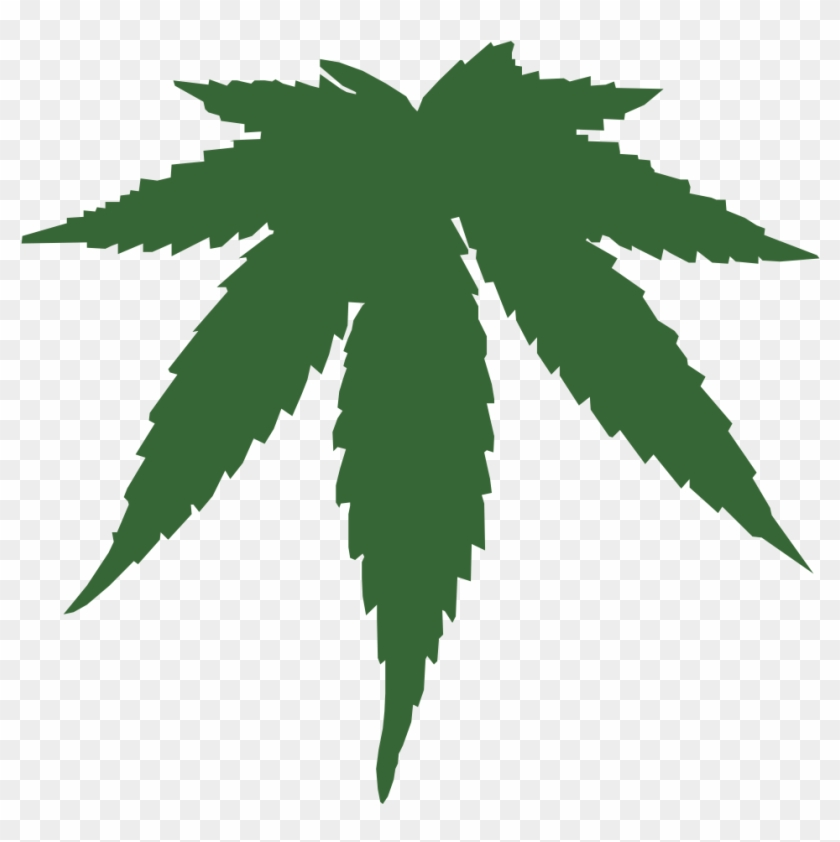 Cannabis Leaf Vector Clipart 335406 Pikpng