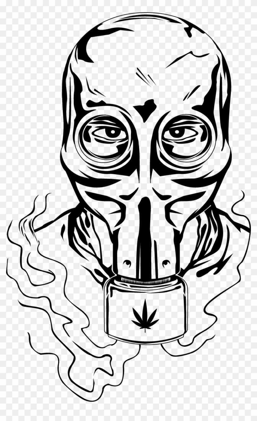 Collection Of Free Cool Drawing Download On - Gas Mask Bong Drawing Clipart #338384