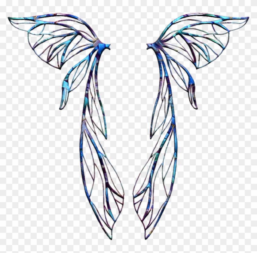 Angel Wings Clipart - Black And White Fairy Wings - Png Download@pikpng.com