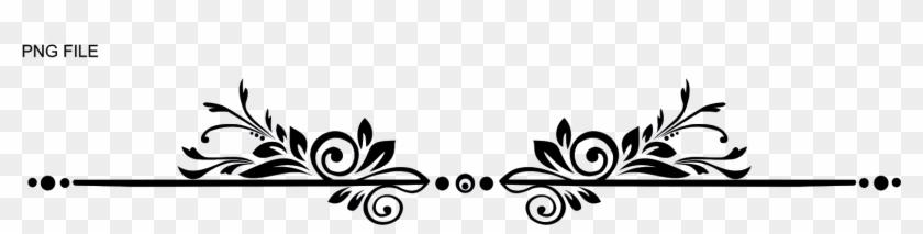 Underline Design - Floral Line Design Png Clipart@pikpng.com