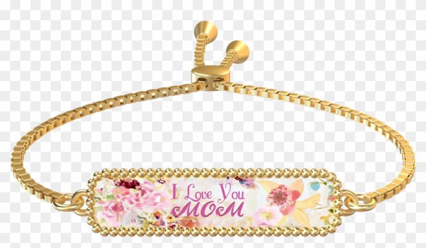 I Love You Mom Gold Rectangle Bracelet - Bracelet Clipart #3304299