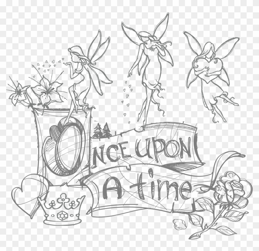 Uncle Kostas, As Everyone Called Him, Had Once Been - Cartoon Fairy Garden Drawing Clipart #3310484