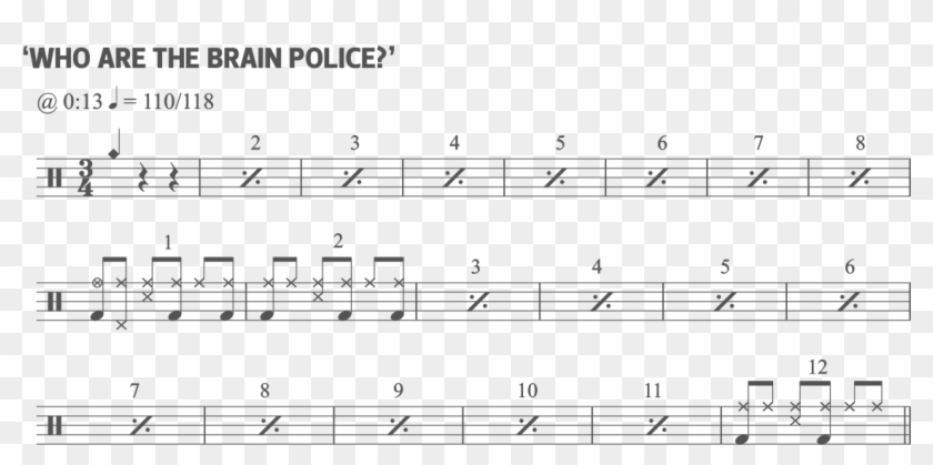 Who Are The Brain Police - Sheet Music Clipart #3314836