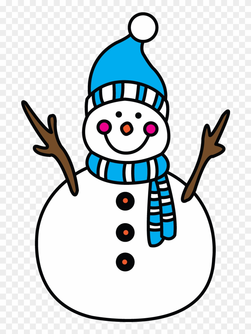 Graphic Library Collection Of Free Download On Ubisafe - Easy To Draw Snow Man Clipart #3315546