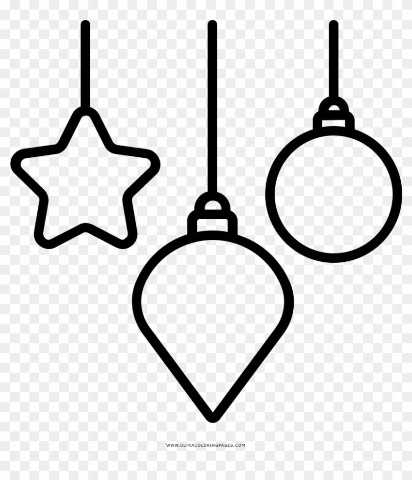 Enfeites De Natal Coloring Page Enfeitos De Natal Desenhos