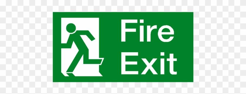 Exit Sign Emergency Sticker Clip Art - Clipart Transparent PNG