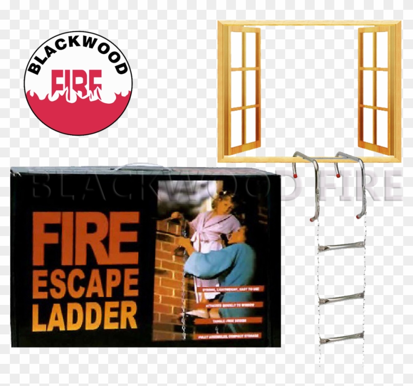 A Good Quality Fire Escape Ladder - Poster Clipart #3328637