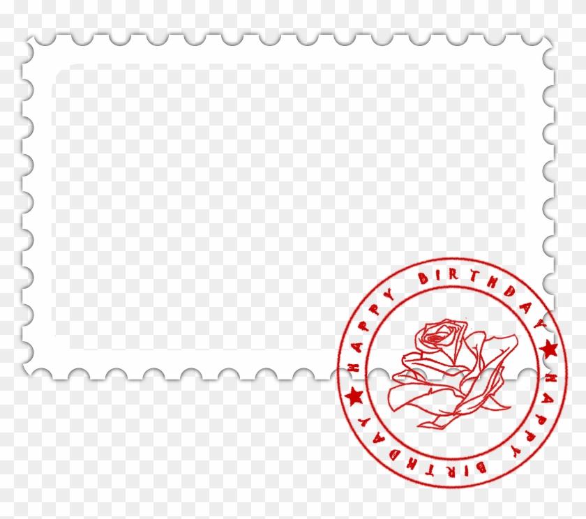 Photo Frame, Postage Stamp, Birthday, Card, Photo - Postage Stamp Postcard Frame Png Clipart #3329787